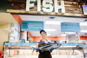 In the New Seasons Market grocery store seafood department, our fishmongers are ready to help you pick the best fish for your needs including salmon, whitefish, tuna and more