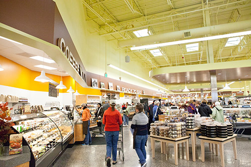 a view of the inside of a new seasons store