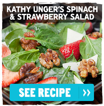 Kathy Unger's Spinach and Strawberry Salad