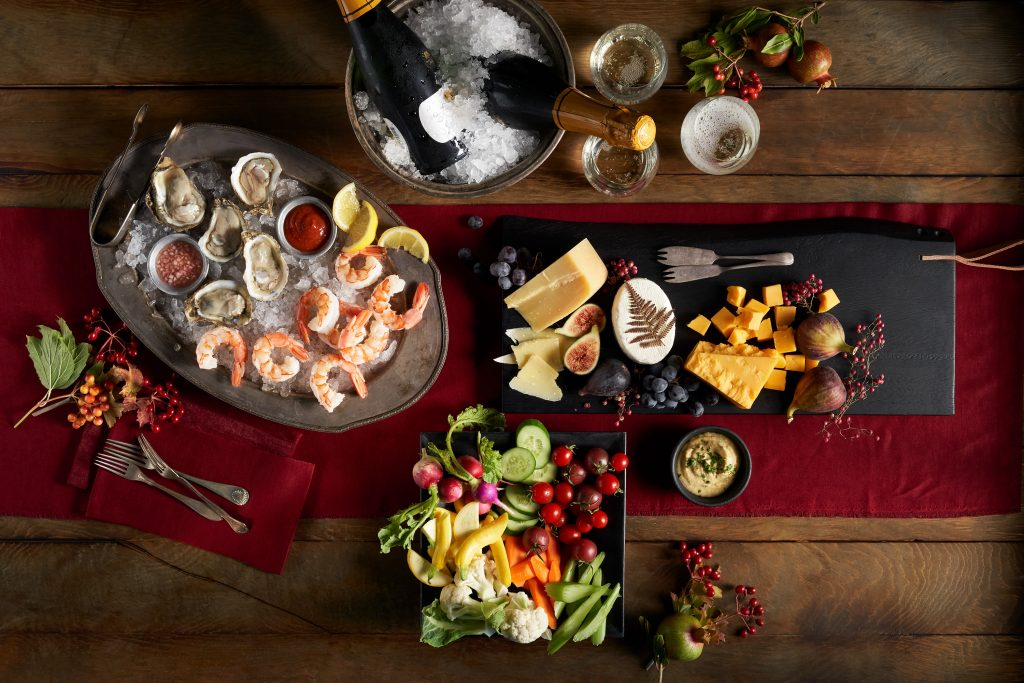 Holiday reservations at New Seasons Market include appetizers and sides like this shrimp cocktail platter