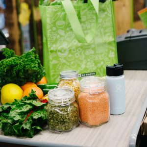 Sustainably bagged groceries