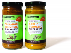 New Seasons Partner Brand Mango and Turmeric Supersauce and Superpastes made in partnership with Oregon Healthy Harvest in Lake Oswego, OR
